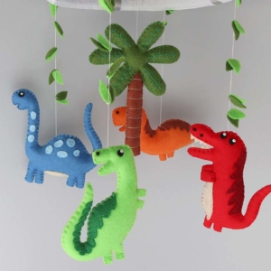 dinosaur baby mobile hanging position