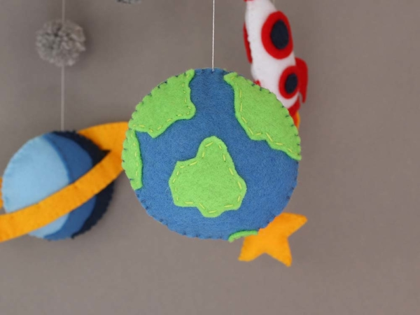 space themed crib mobile planet earth