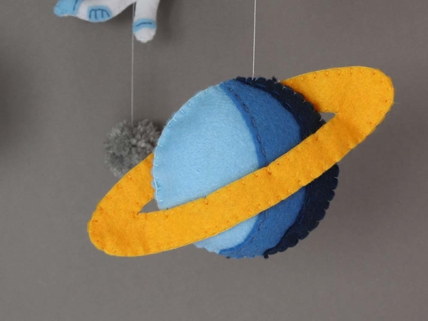 space themed crib mobile Saturn