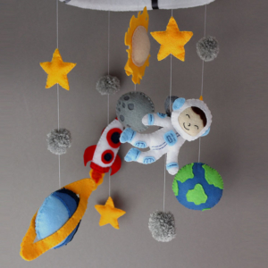space themed crib mobile