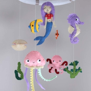 Mermaid crib mobile
