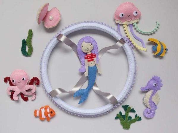 Mermaid crib mobile