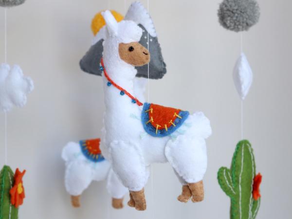 Cute felt Llama