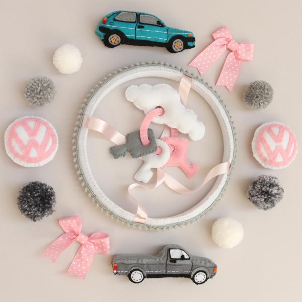 VW car theme baby mobile