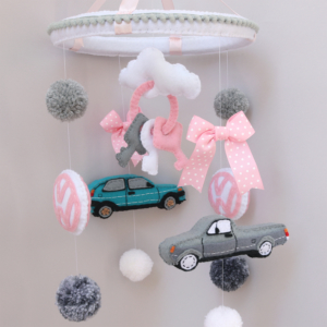 VW car theme baby mobile