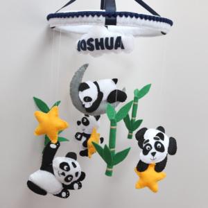 panda and bamboo baby mobile