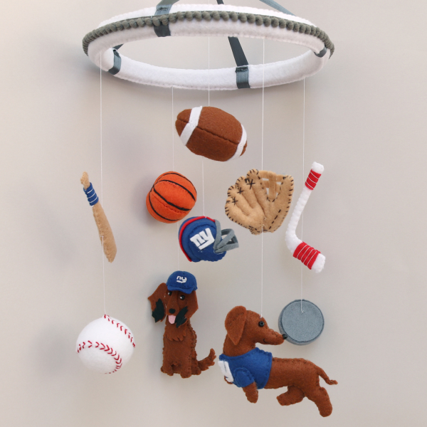 Sports baby mobile