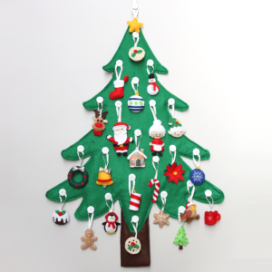 Toddler Christmas tree with decorations