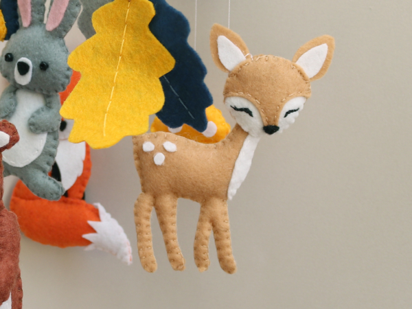Woodland forest nursery baby mobile