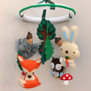 Forest animal baby mobile